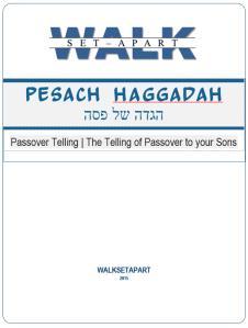 Walksetapart Pesach Haggadah cover
